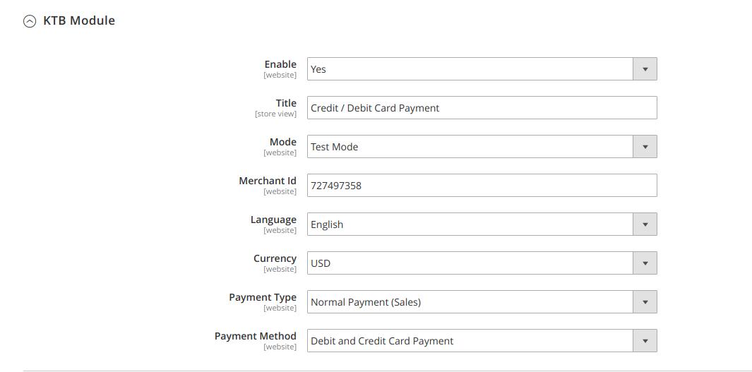KrungThai Bank Payment Gateway
